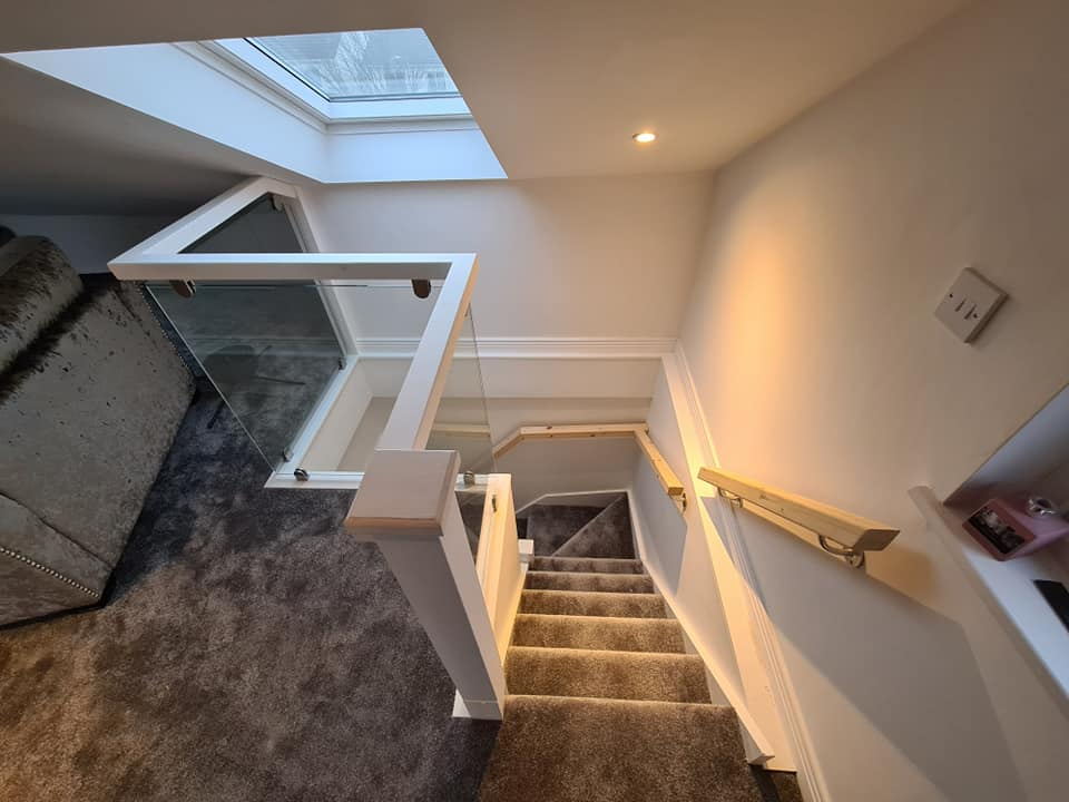 attic stairs in a dormer