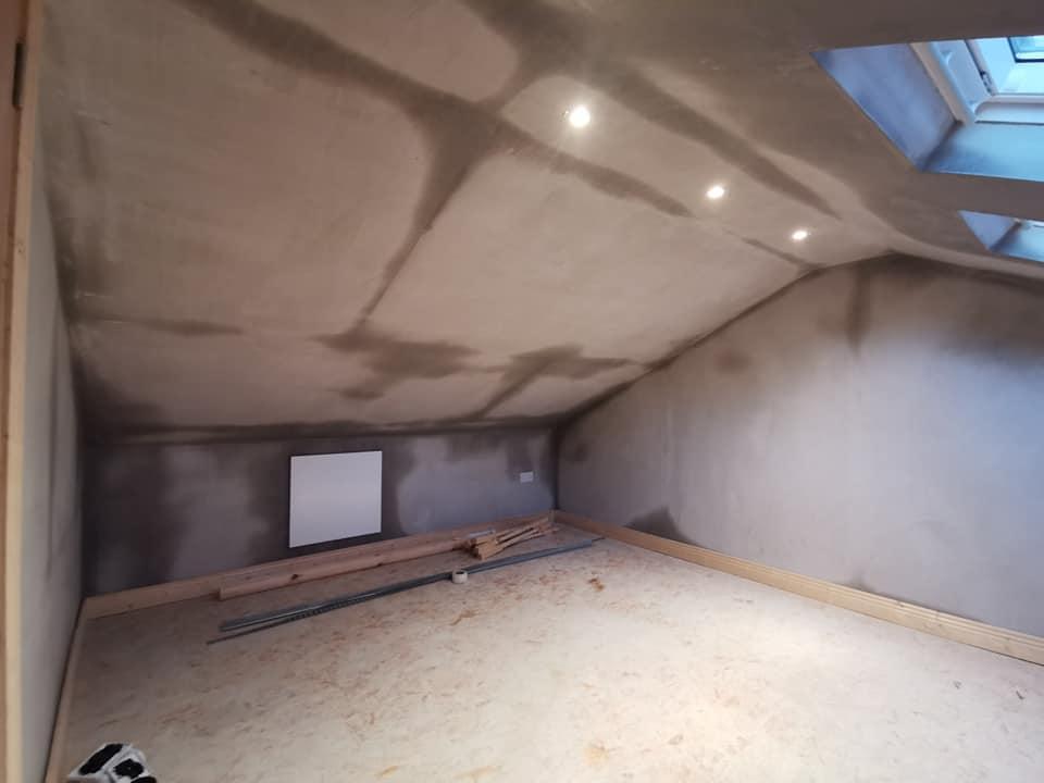 attic plastered