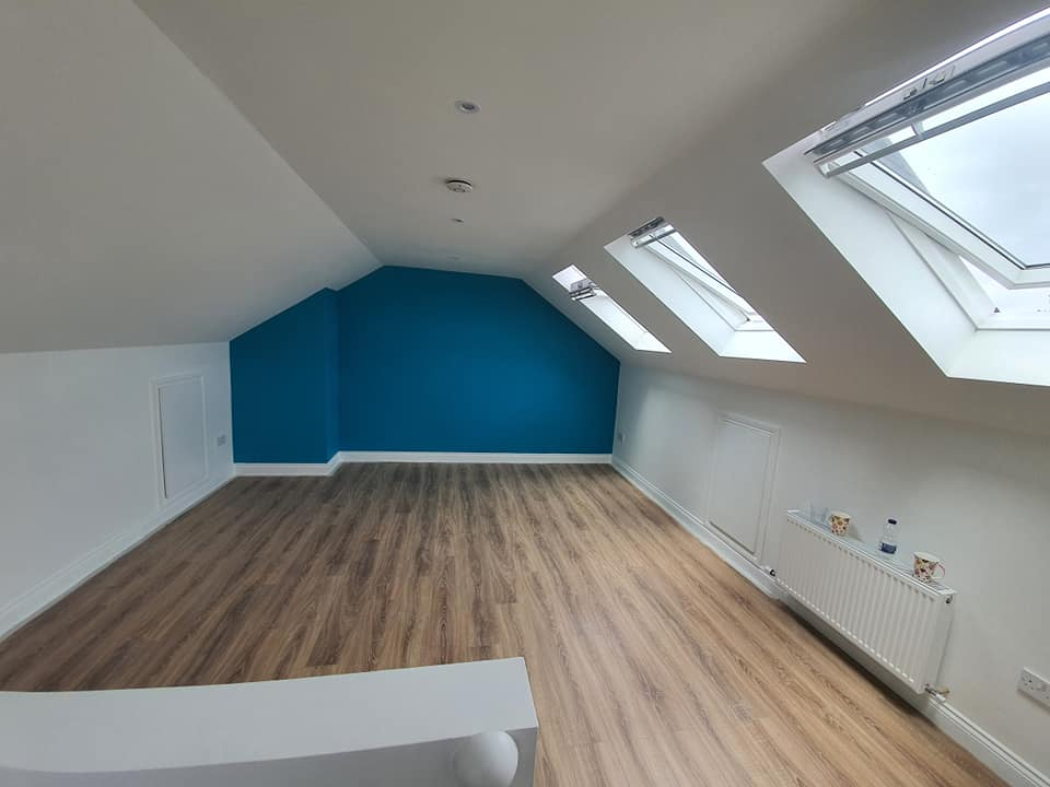attic space feature wall