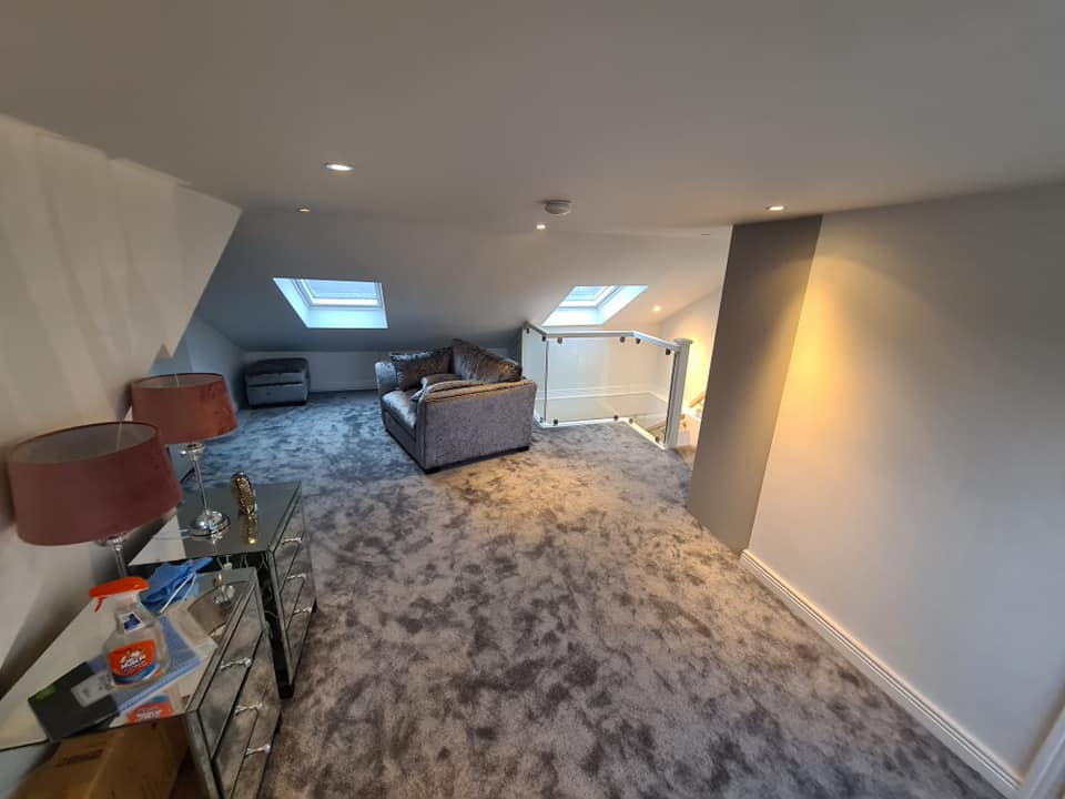 converted hipped roof attic