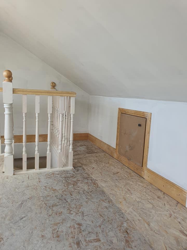 attic eaves storage door