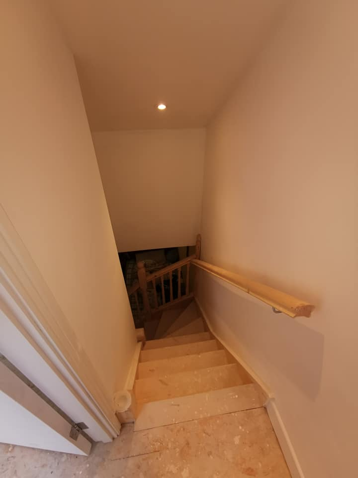 top of attic stairs